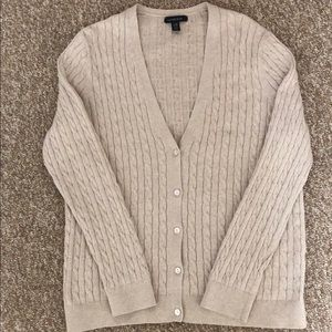 LANDS' END CARDIGAN SWEATER